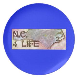 """North Carolina 4 Life"" State Map Pride Design Plate"