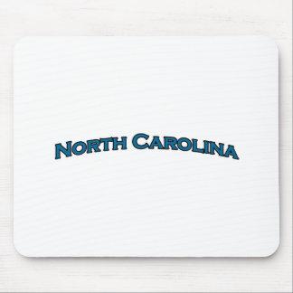 North Carolina Arched Text Logo Mouse Pad