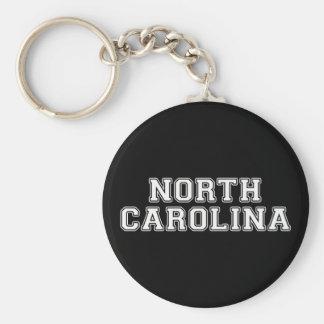 North Carolina Basic Round Button Key Ring