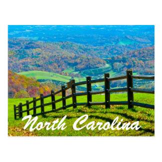 north carolina-blue ridge parkway postcards