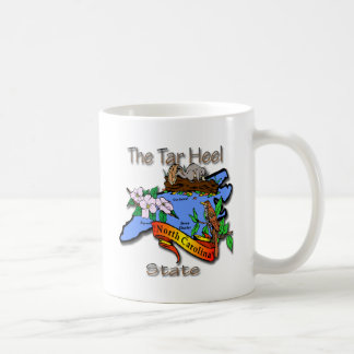 North Carolina Blue The Tar Heel State BirdFlower Mugs