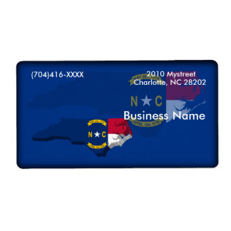 North Carolina Business Label Shipping Label