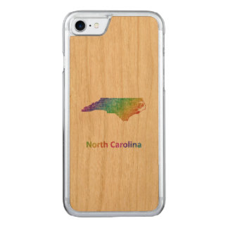 North Carolina Carved iPhone 7 Case