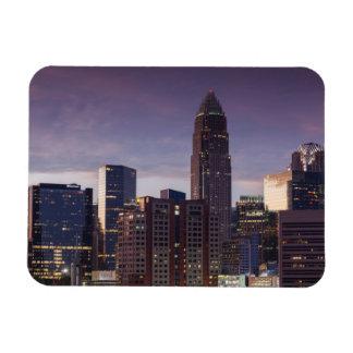 North Carolina, Charlotte, elevated view Rectangular Photo Magnet