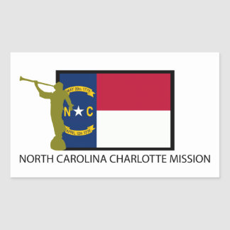 NORTH CAROLINA CHARLOTTE MISSION LDS CTR RECTANGULAR STICKER