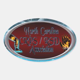North Carolina CRPS/RSD Association Oval Logo Oval Sticker