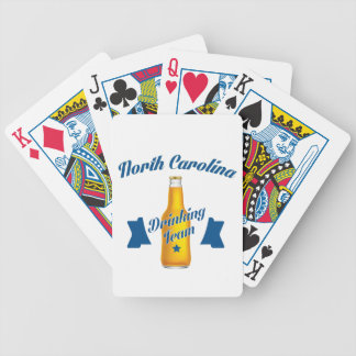 North Carolina Drinking team Bicycle Playing Cards