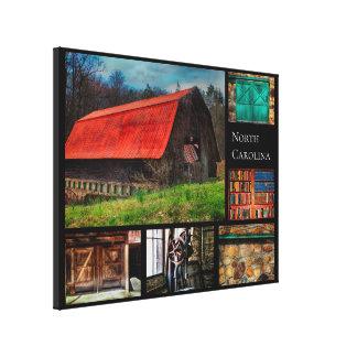 North Carolina Farm Barn Rustic Photography Canvas Print