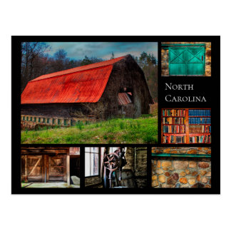 North Carolina Farm Barn Rustic Photography Postcard
