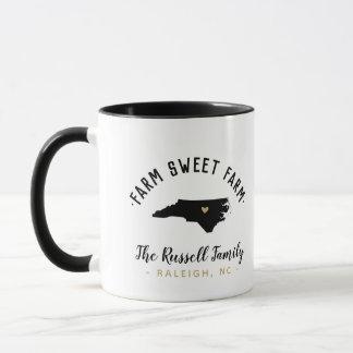 North Carolina Farm Sweet Farm Family Monogram Mug