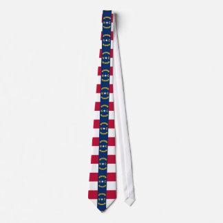 North Carolina flag, American state flag Tie