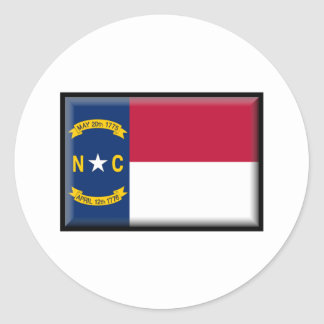 North Carolina Flag Classic Round Sticker