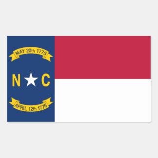 North Carolina Flag Rectangular Sticker