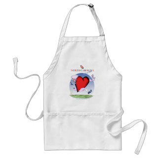 north carolina head heart, tony fernandes standard apron