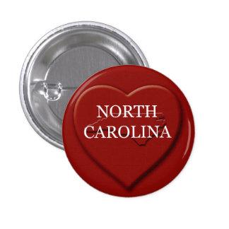 North Carolina Heart Map Design Button