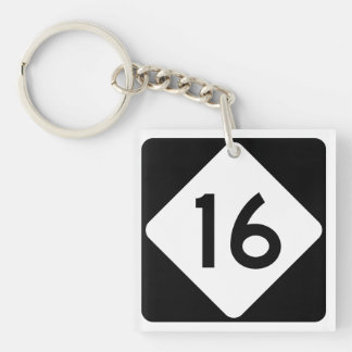 North Carolina Highway 16 Key Ring