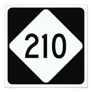 North Carolina Highway 210 13 Cm X 13 Cm Square Invitation Card