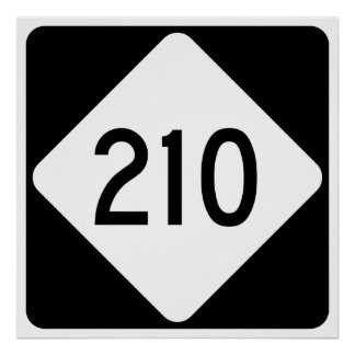 North Carolina Highway 210 Poster