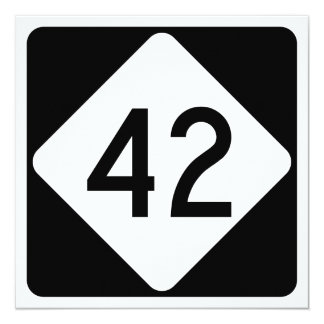 North Carolina Highway 42 13 Cm X 13 Cm Square Invitation Card