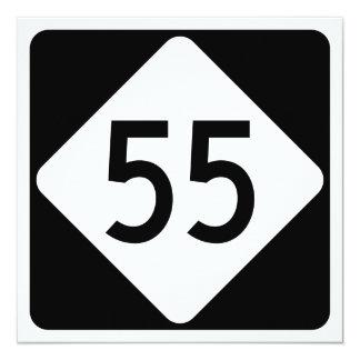 North Carolina Highway 55 13 Cm X 13 Cm Square Invitation Card