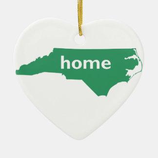 North Carolina Home Ceramic Heart Decoration