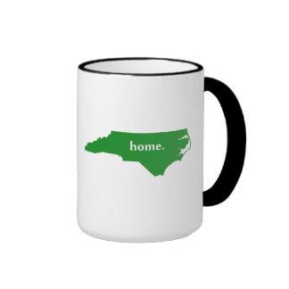 North Carolina home silhouette state map Coffee Mugs