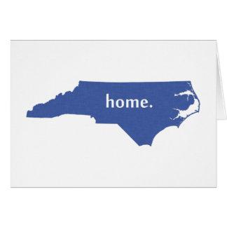 North Carolina home silhouette state map Note Card