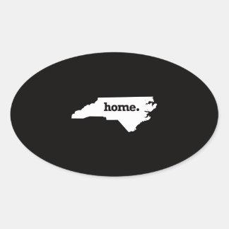 North Carolina Home Oval Sticker