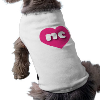 North Carolina hot pink heart - mini love Shirt