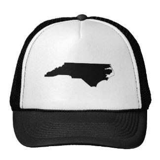 North Carolina in Black and White Mesh Hats