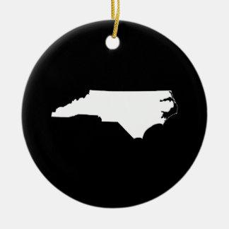 North Carolina in White and Black Ornament