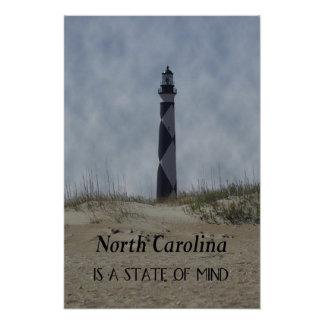 North Carolina is a State Of Mind Poster