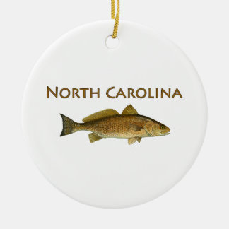 North Carolina Logo (red drum) Ceramic Ornament