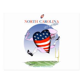 north carolina loud and proud, tony fernandes postcard