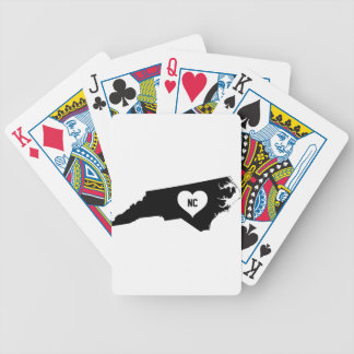 North Carolina Love Bicycle Playing Cards