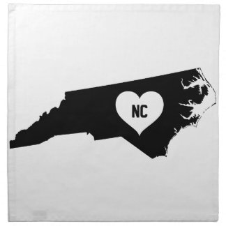 North Carolina Love Napkin