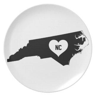 North Carolina Love Plate