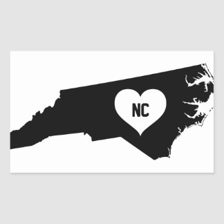 North Carolina Love Rectangular Sticker