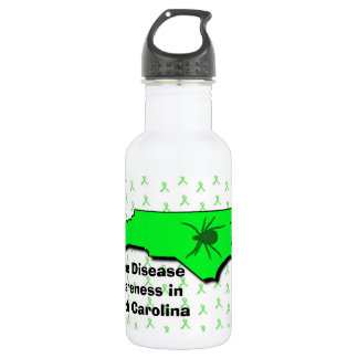 North Carolina Lyme Disease Awareness Water Bottle 532 Ml Water Bottle