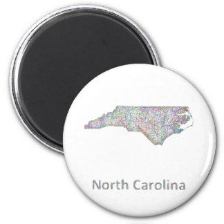 North Carolina map 6 Cm Round Magnet