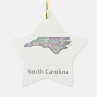 North Carolina map Ceramic Ornament
