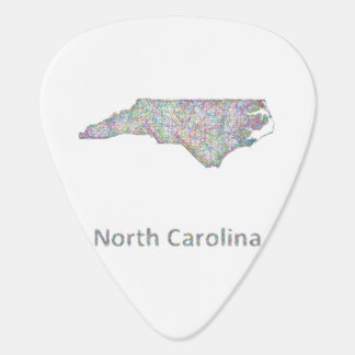 North Carolina map Plectrum