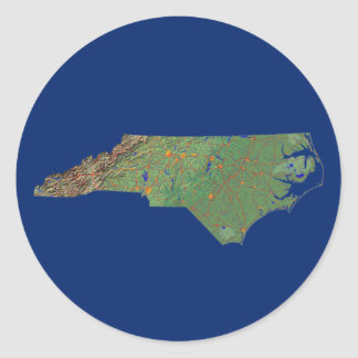 North Carolina Map Sticker