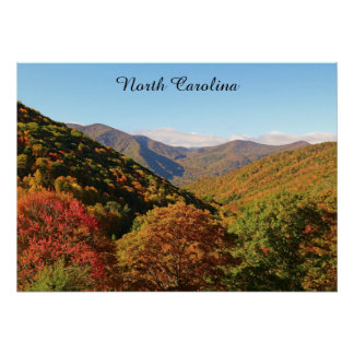 North Carolina Mountains Poster