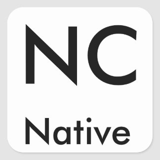 North Carolina Native stickers (Black/Large)
