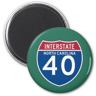 North Carolina NC I-40 Interstate Highway Shield - Magnet