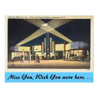 North Carolina, Norment Motors, Lumberton Postcard
