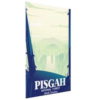 North Carolina Pisgah national park travel poster Canvas Print