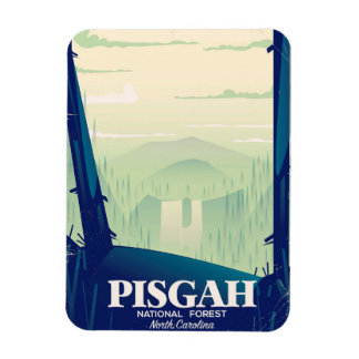 North Carolina Pisgah national park travel poster Magnet