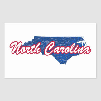 North Carolina Rectangular Sticker